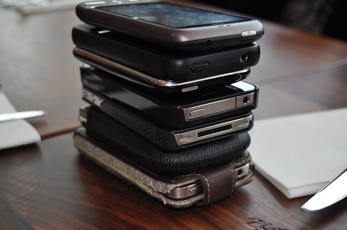 Phone stacking at #ECEU brainstorm