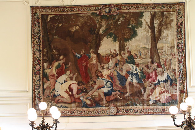 Tapestry in the marble staircase, Palais Buquoy
