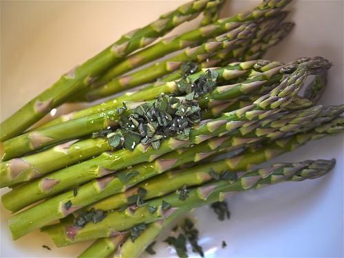Roasted Asparagus Salad - Preparing to roast