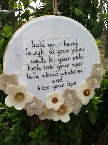 love you embroidery