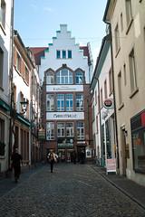 paved lane in Freiburg