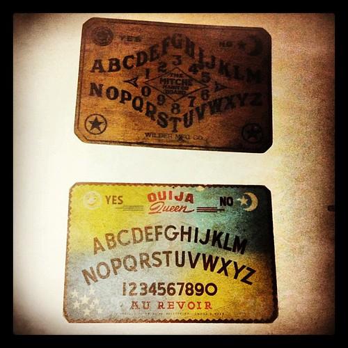234: vintage Ouija boards.