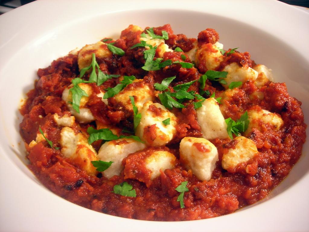 Ricotta gnocchi with Marcella's tomato sauce