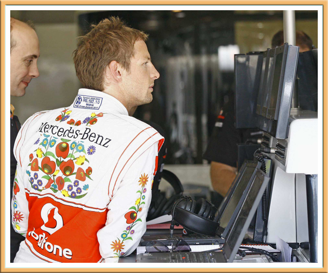 Hungarian folk motives on the McLaren uniform