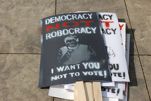 Democracy Not Robocracy Rally #2