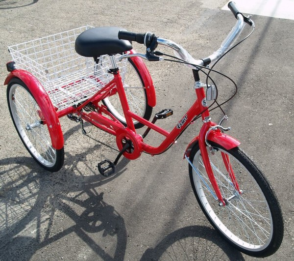Red Tricycle Adult 3 Wheel Bike