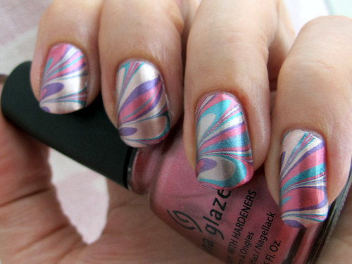 China Glaze Romantique polishes water marble