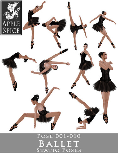 Apple Spice - Ballet Static Poses 001-010