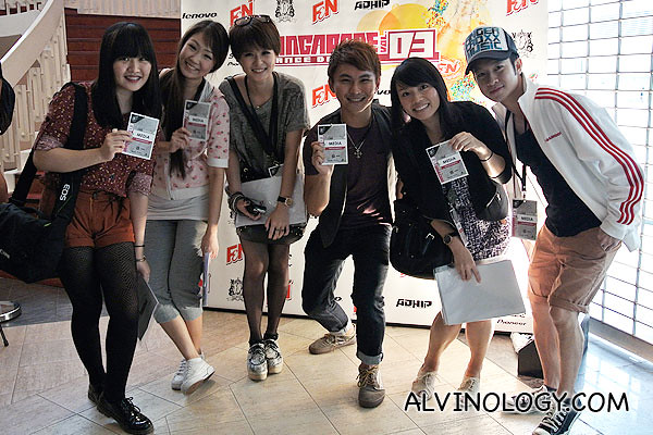 The bloggers with their media passes