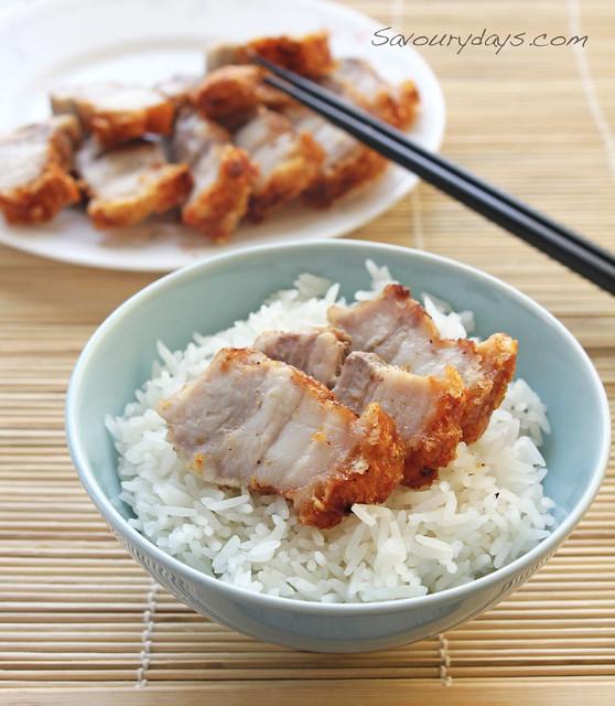 Thịt quay giòn bì, món ngon dễ làm, món ăn ngon được tổng hợp bở bamboo res