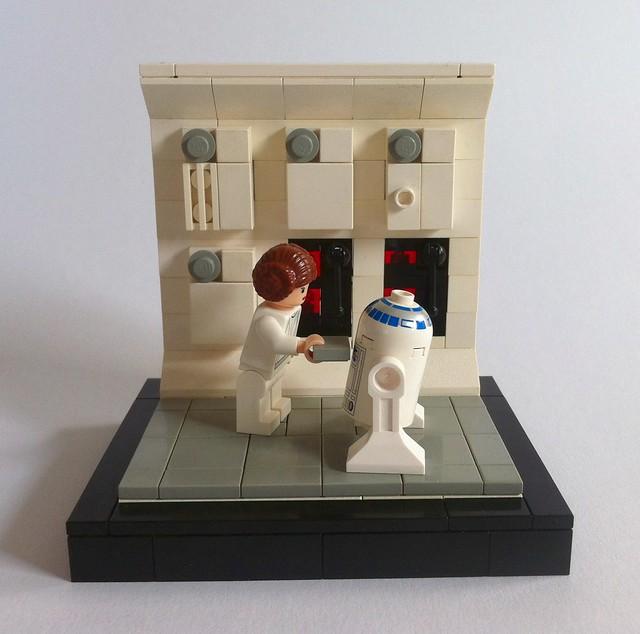 Leia and R2-D2 (Tantive IV)