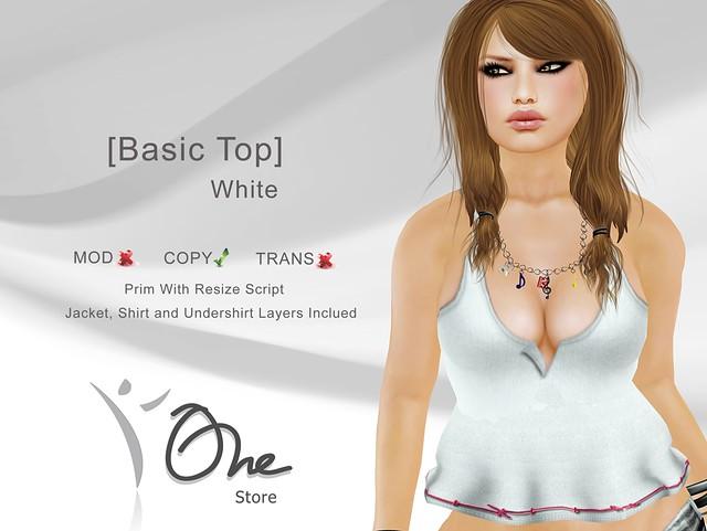 [Basic Top] White