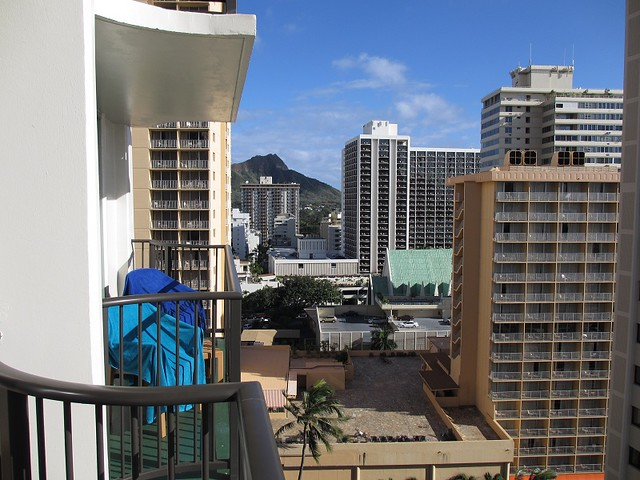 Diamond Head Crater from our balcony