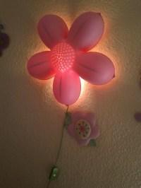 Ikea flower wall lamp