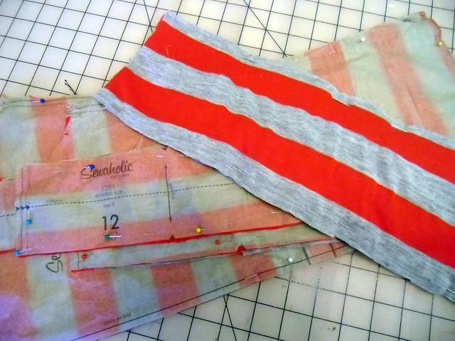 next Renfrew - red & grey stripes!