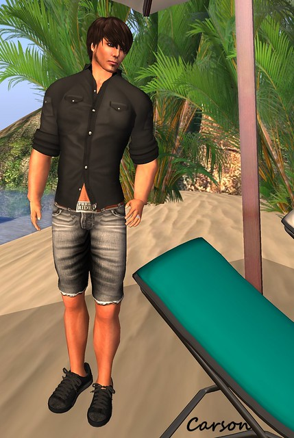 Lash-Ware - Military Shirt and Denim Shorts