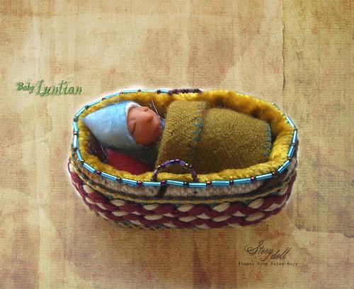 In her cradle