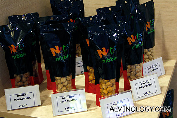 All kind of flavoured nuts are available