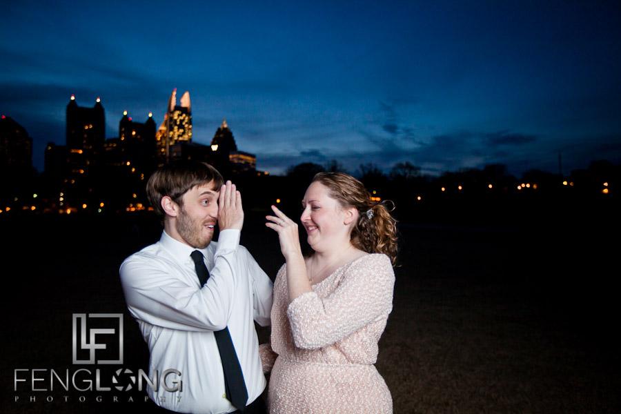 Brittany & Jarrett's Engagement Session | Bobby Dodd Stadium & Georgia Tech & Piedmont Park | Atlanta Wedding Photographer