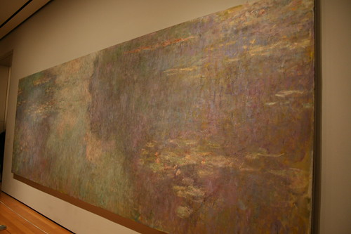 One of two of Monet's large Waterlilies murals