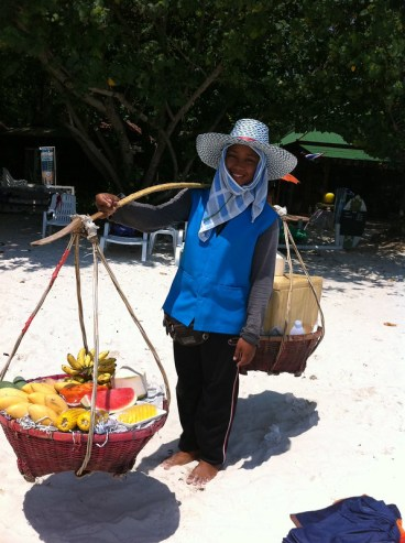 Försäljerska på stranden