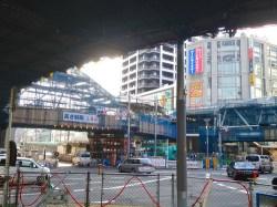 No.46 阿倍野歩道橋を地上から望む(北側)1