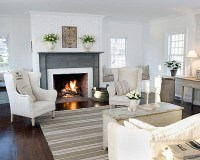 Source Unknown {white country rustic modern living room ...