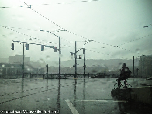 Rainy street in Portland, Oregon