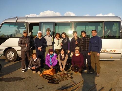 南相馬市で瓦礫片付けボランティア Volunteer at Minamisoma city, Damaged by the Tsunami of Japan Earthquake and Fukushima Daiichi nuclear plant accident