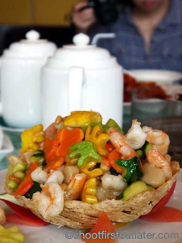 shrimp & Disney root vegetables