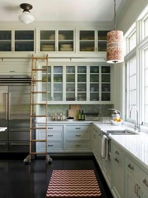 library ladder kitchen