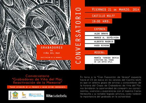 invitacion.conversatorio2014 by Castillo Wulff - Unidad de Patrimonio