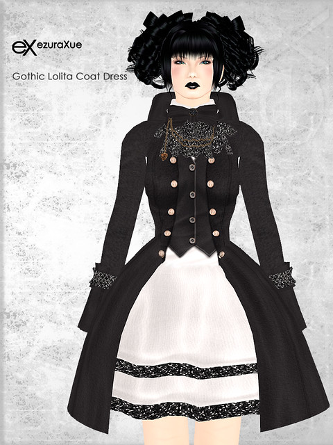 + eX + Gothic Lolita Coat Dress *Black