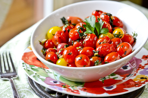 Garlic Herb Tomatoes 1