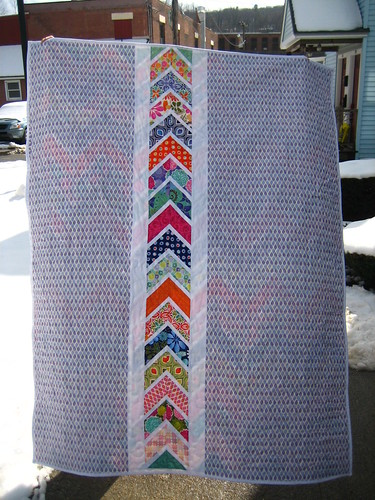 Back side of Terrain Chevron Quilt