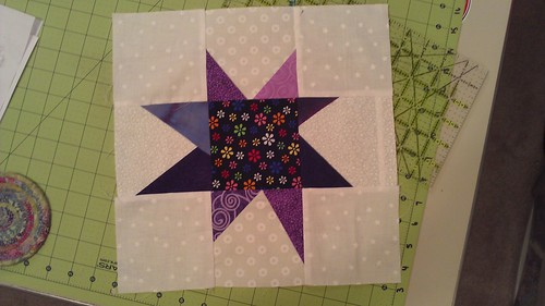 Wonky Stars For Linus, in progress