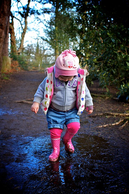 I love jumping in muddy puddles