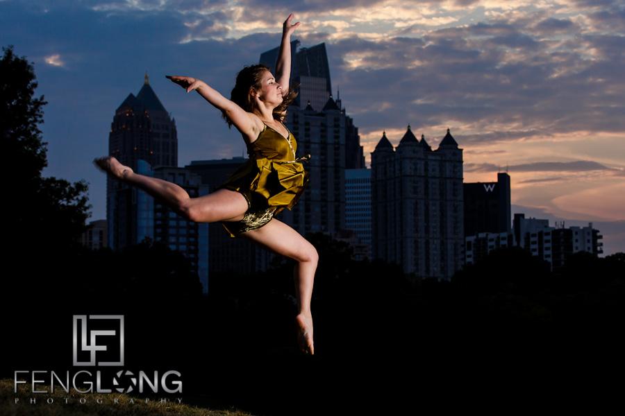 Airborne Dancer | Megan Dancing Creative Portrait Session | Piedmont Park | Atlanta Wedding & Portrait Photographer