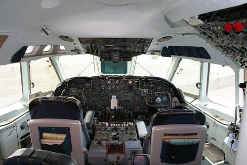 Record shot - old airliner cockpit