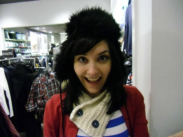 LT in a furry hat