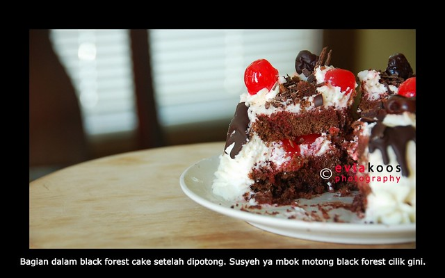 inside of black forest cake