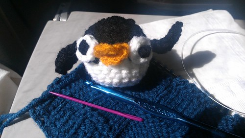 Penguin ball I made on the plane