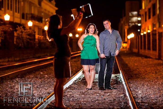 Behind the Scenes | Karina & Ryan's Engagement Session | Church Street & Lake Eola | Downtown Orlando Destination Wedding Photographer