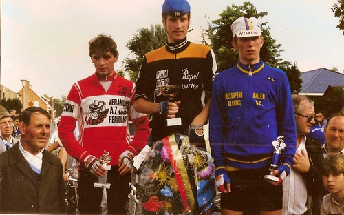 13eAltenaprijs1985 Winnaar EricBodart links LucVoet SVK JosFranssen