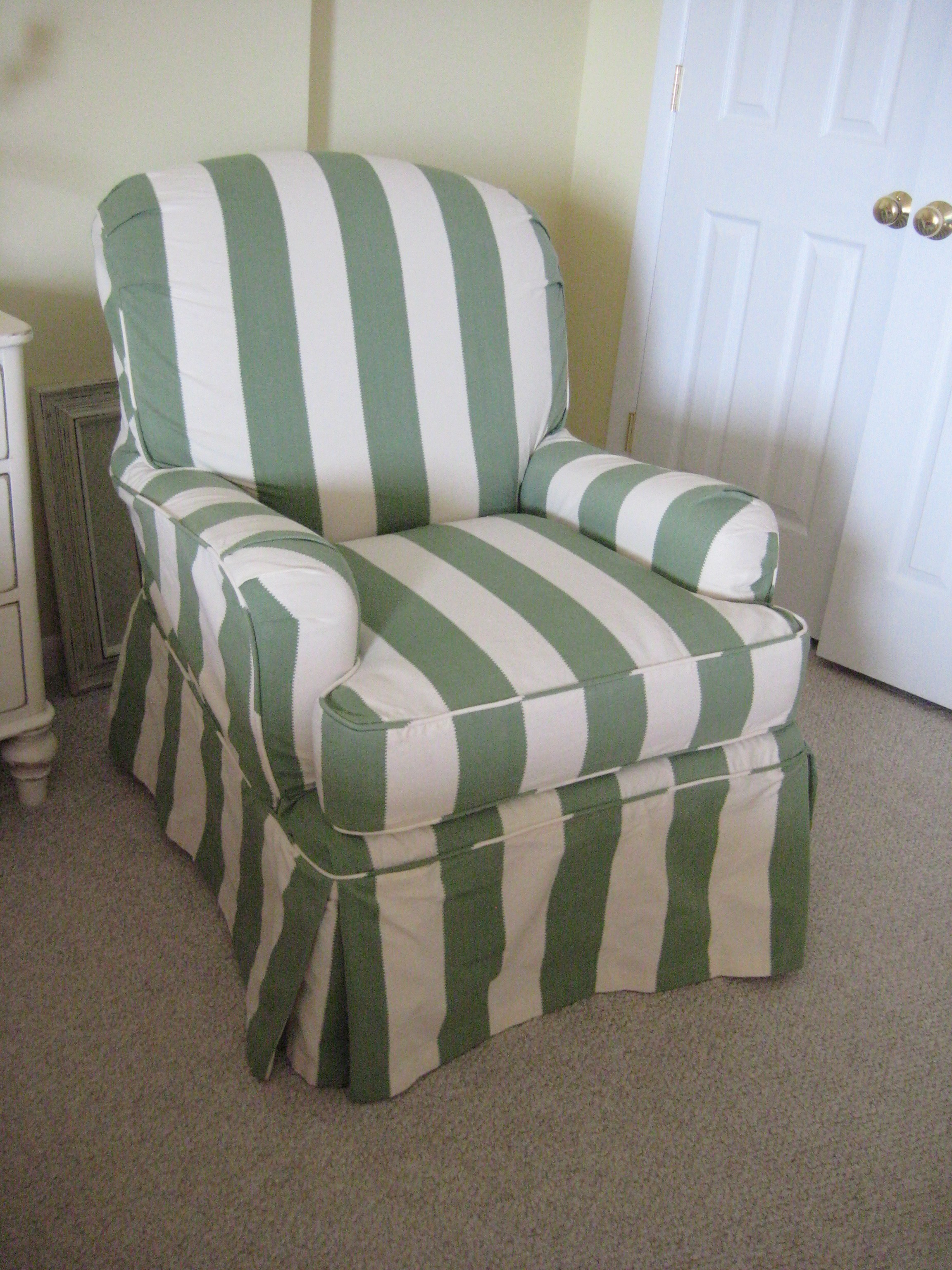 club chair slipcover reclining desk in calypso stripe from