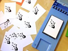 Easter Card Design, Print Gocco
