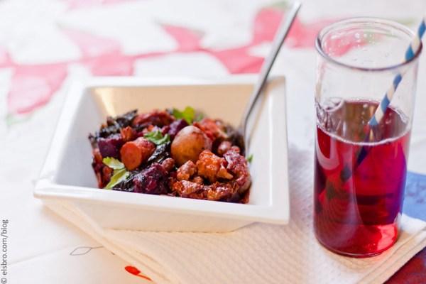 Roasted Potatoes,  Beets & Kale