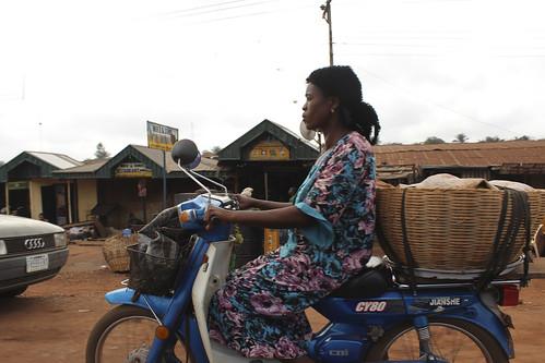 Obolo Village Female Motorcyclist. by Jujufilms