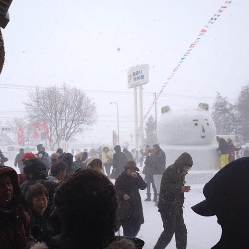 時々吹雪。