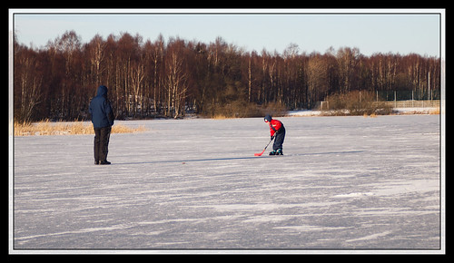 43/366 - Ice hockey training on a frozen lake by Flubie